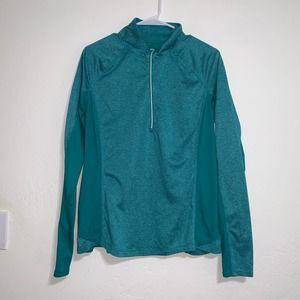 Danskin zip up pullover. Green. EUC. Large